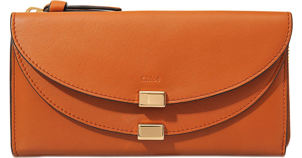 chloe satchel bag - Chlo�� Georgia Long Flap Wallet in Orange | Lyst
