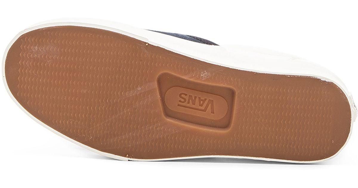 44592418aa20 Lyst - Vans California Classic Slip On Scotchgard in Blue for Men