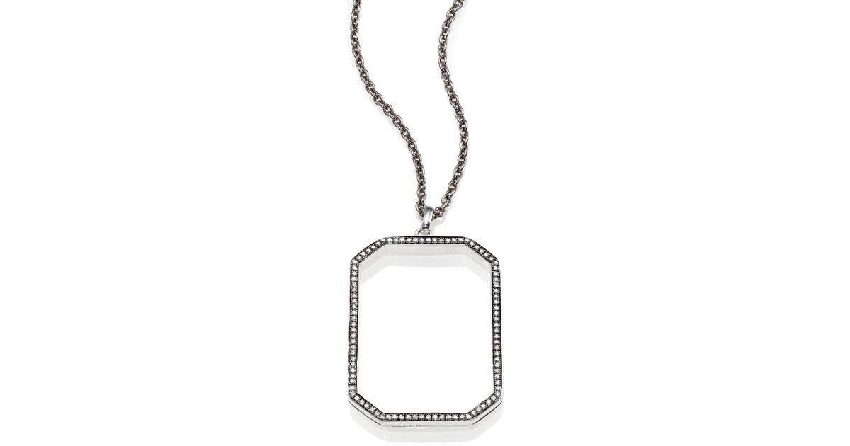 Lyst ippolita stella diamond sterling silver octagon frame lyst ippolita stella diamond sterling silver octagon frame pendant necklace in metallic aloadofball Choice Image
