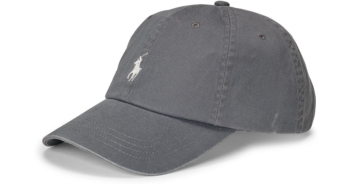 08d5d5b255a317 Polo Ralph Lauren Cotton Chino Baseball Cap in Gray for Men - Lyst