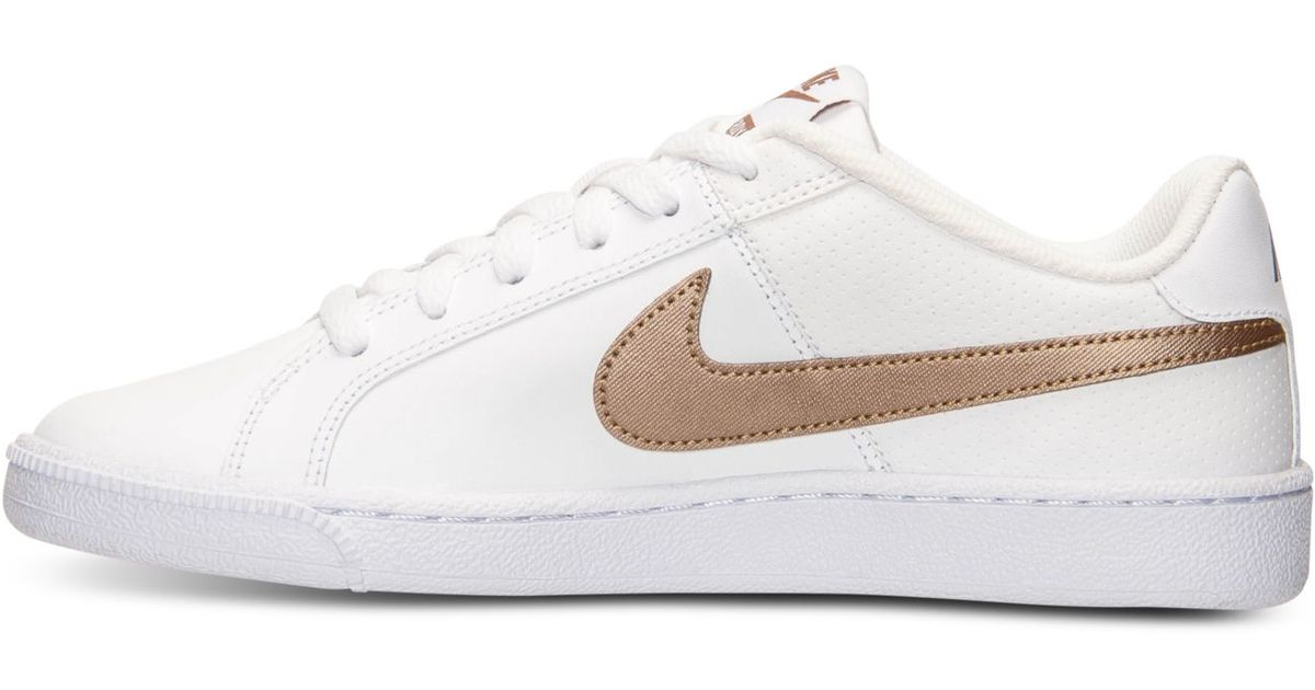 b86ea7d8986c Lyst - Nike Women s Court Royale Casual Sneakers From Finish Line in White