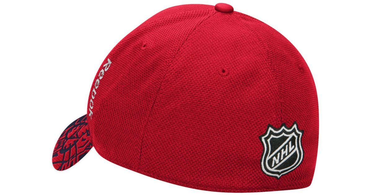 b97163bf86e uk lyst reebok florida panthers nhl 2015 draft flex cap in red for men  ac22b bffb0