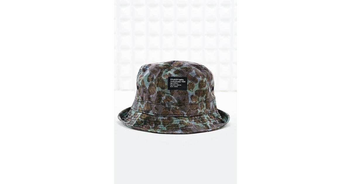 Stussy Bucket Hat in Cheetah Camo Print in Gray for Men - Lyst 005a1191638