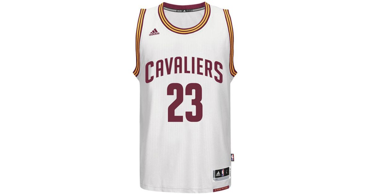 b1c5f85fbdc Lyst - adidas Kids' Lebron James Cleveland Cavaliers Swingman Jersey in  White for Men
