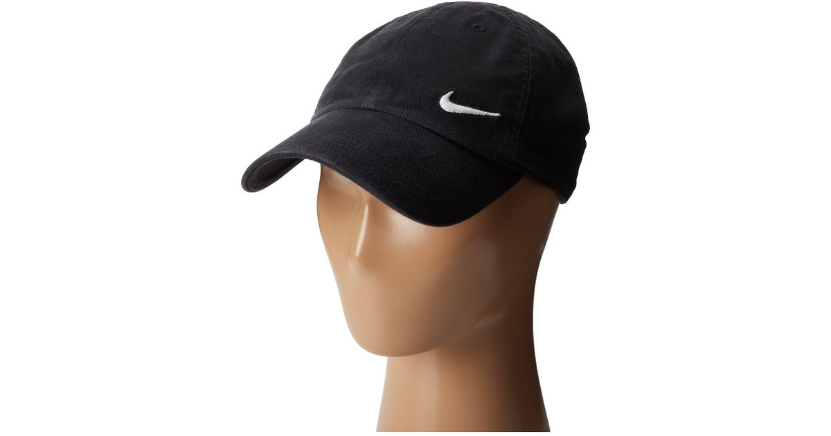 Lyst - Nike Heritage 86 Swoosh Cap in Black adc4fa601ddf