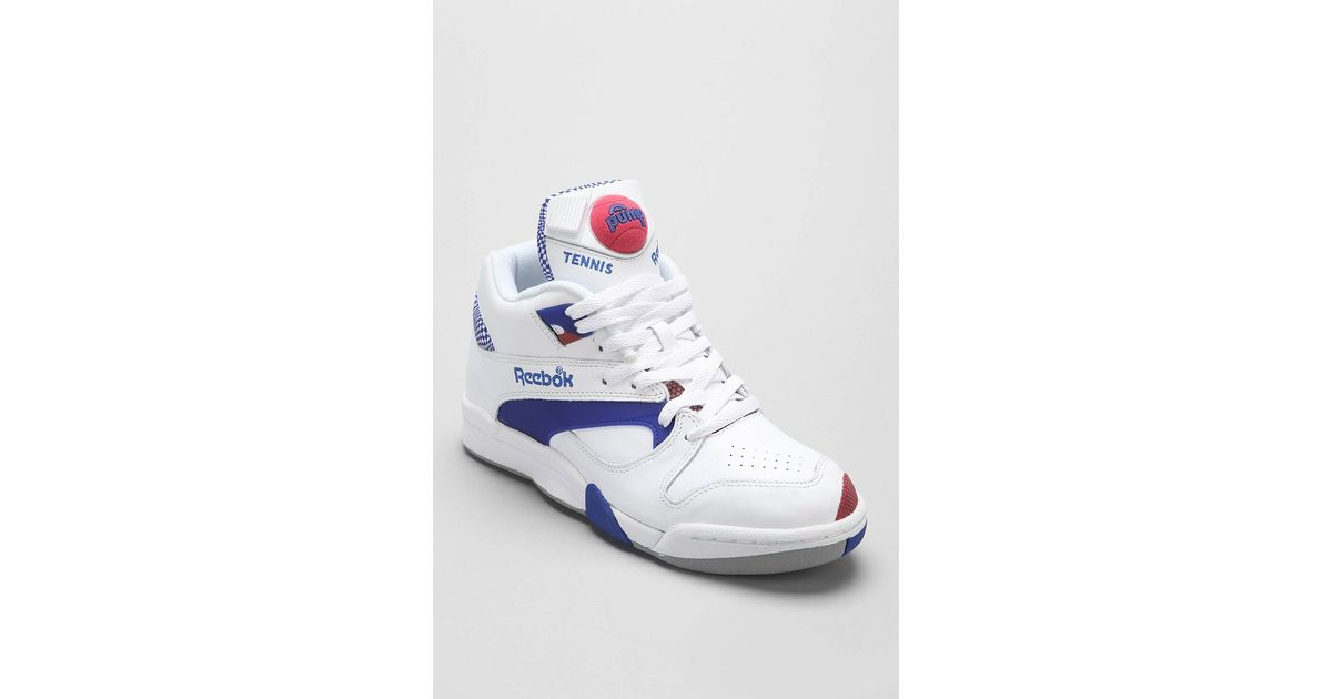 Lyst - Reebok Reserve Court Victory Pump Sneaker in Blue for Men e0e1a3dd8f2e