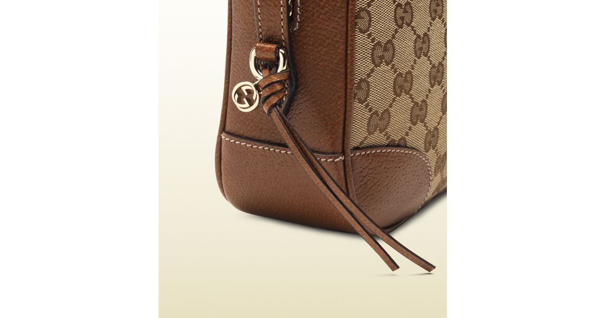 6136ee78350c12 Gucci Bree Original Gg Canvas Mini Messenger Bag in Natural - Lyst