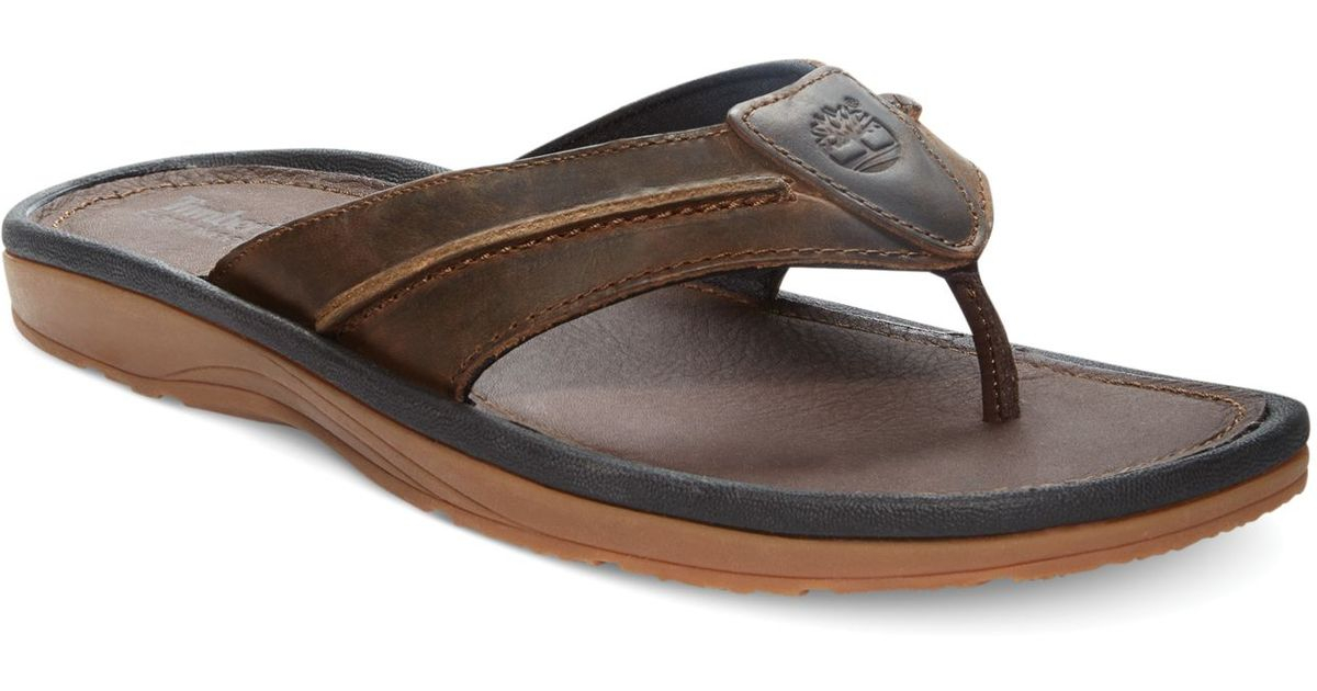 Lyst - Timberland Earthkeepers Rugged Thong Sandals in Brown for Men f647c785b20dc