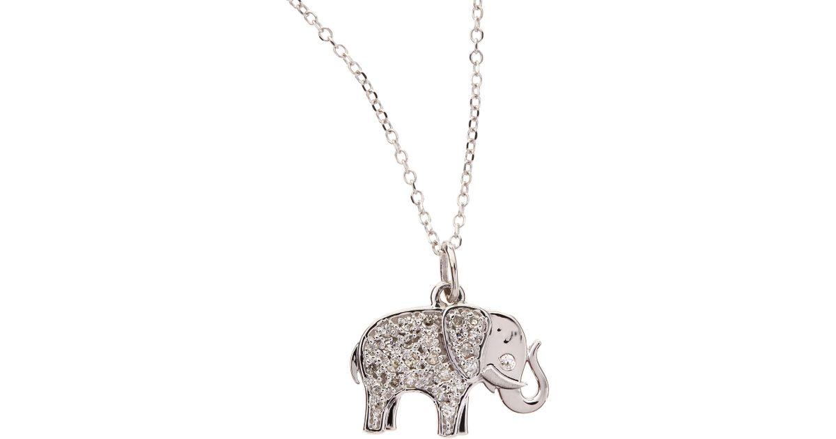 Lyst kc designs 14k white gold diamond elephant pendant necklace lyst kc designs 14k white gold diamond elephant pendant necklace in white aloadofball Choice Image