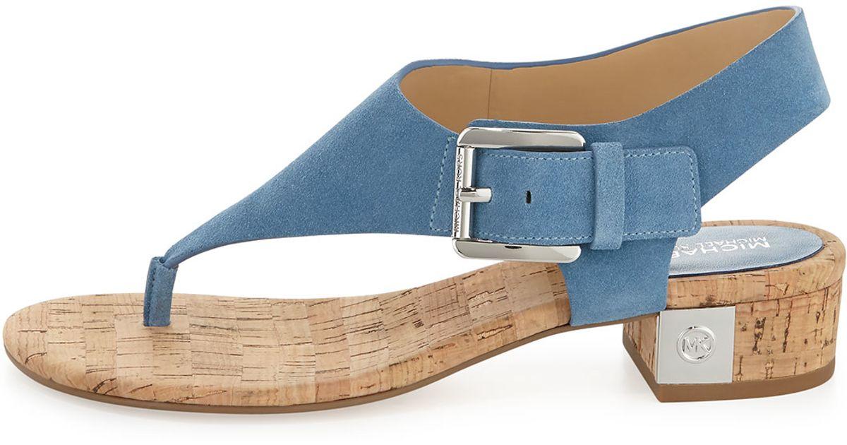8161c6418a MICHAEL Michael Kors London Suede Sandals in Blue - Lyst