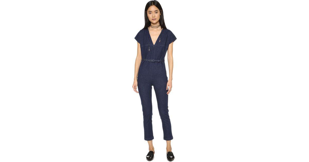 5535b177a14 Lyst - Rachel Comey Glinda Jumpsuit in Blue