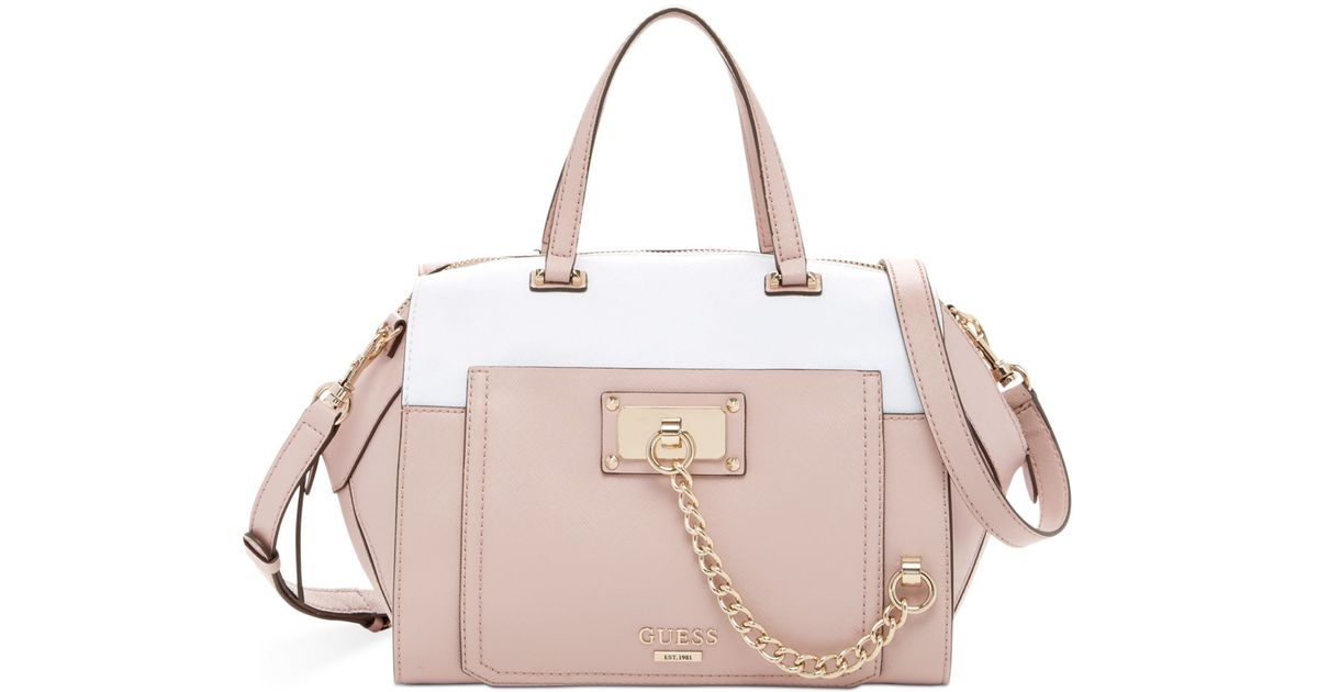 Guess Forget Me Not Paxton Satchel in Pink