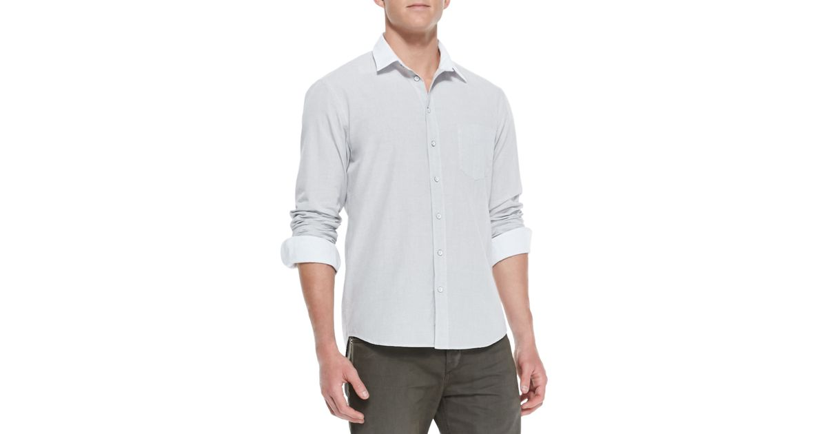 Rag & bone White-collar Button-down Shirt 5-pocket Twill Pants in ...