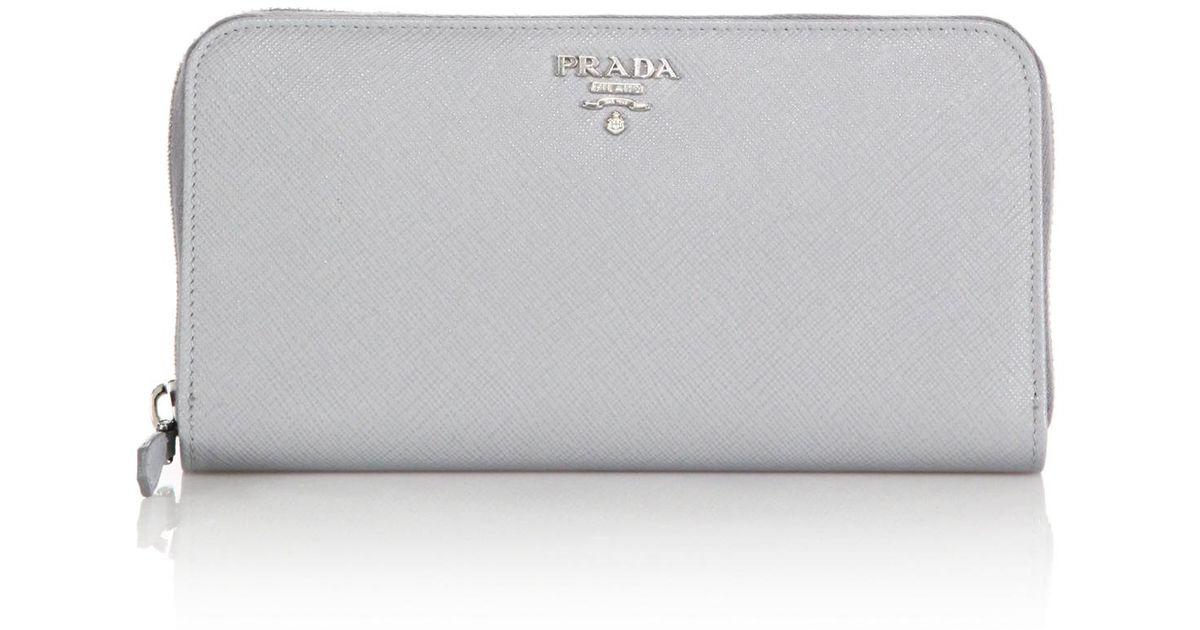 prada saffiano continental wallet large
