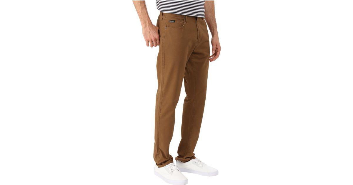 bf4f51b4 RVCA Daggers Twill Pants in Brown for Men - Lyst
