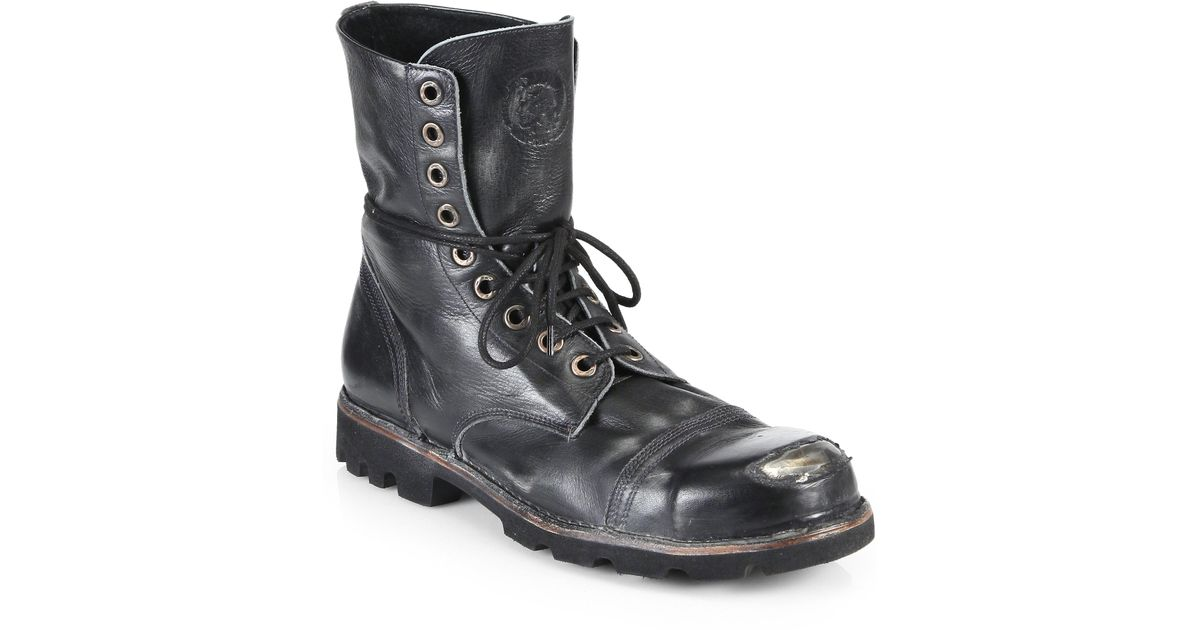 Diesel STEEL - Lace-up boots - black usnCaQq