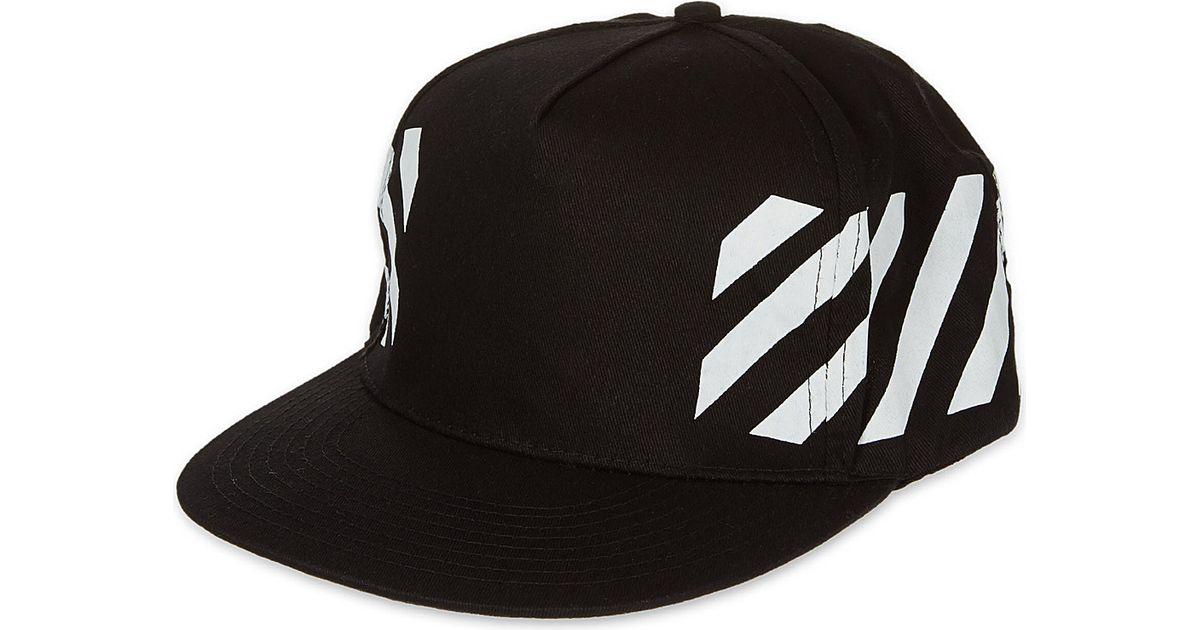 d7ed2a80fae76a Off-White c/o Virgil Abloh Cap Snapback Striped Black in Black for Men -  Lyst