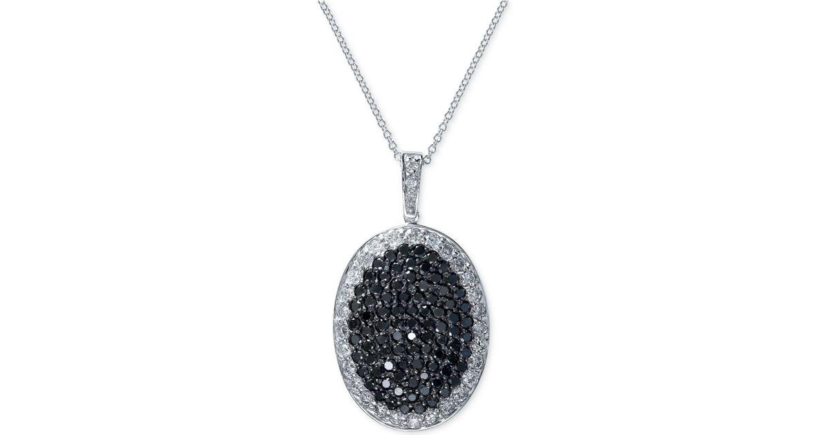 Effy Collection Effy Black And White Diamond Pendant
