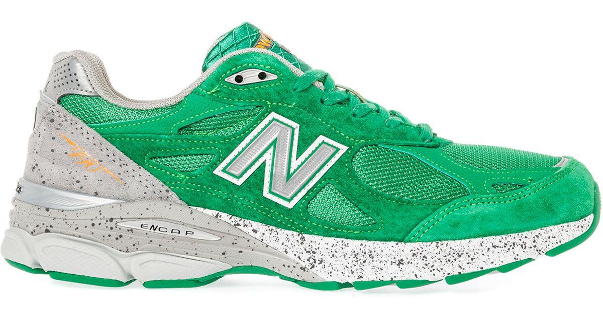 cb2b23408464 Lyst - New Balance The Boston Marathon 990 Sneaker in Green for Men