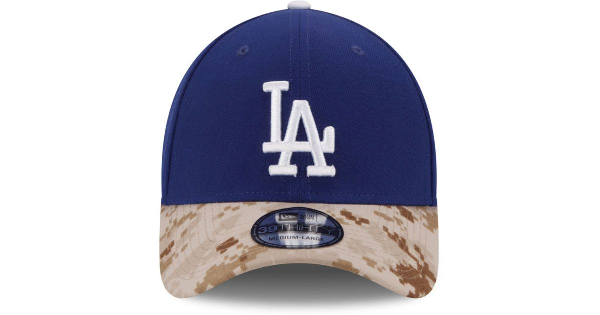 Lyst - KTZ Los Angeles Dodgers Memorial Day 39Thirty Cap in Blue for Men b6f5557d987