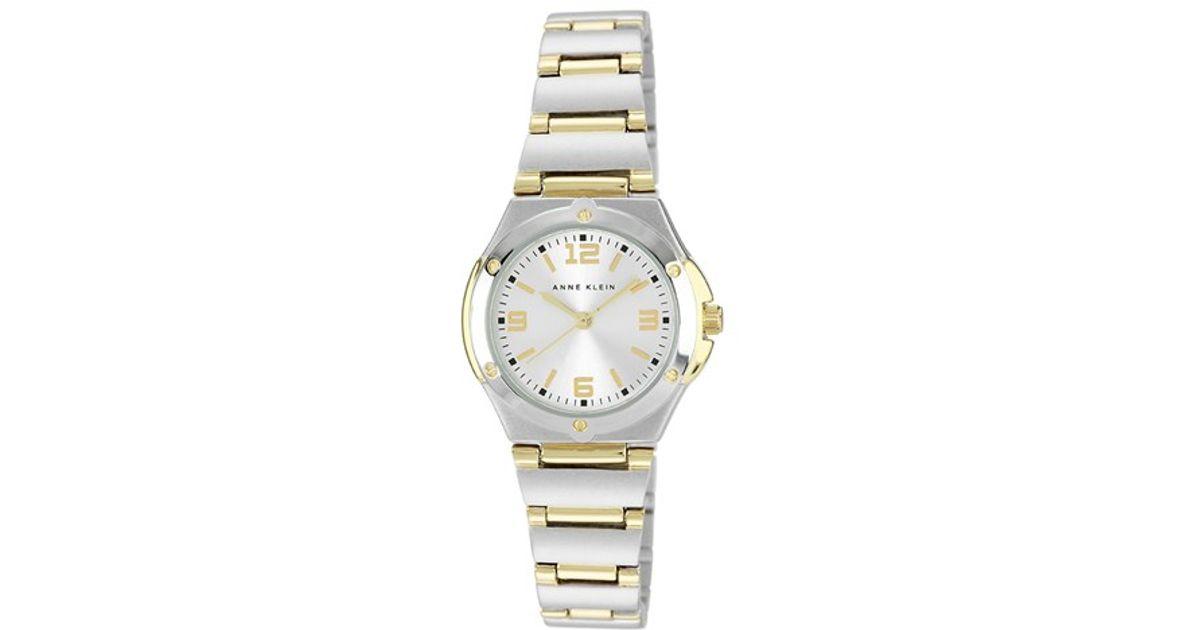 Anne klein Silver Dial Bracelet Watch in Metallic