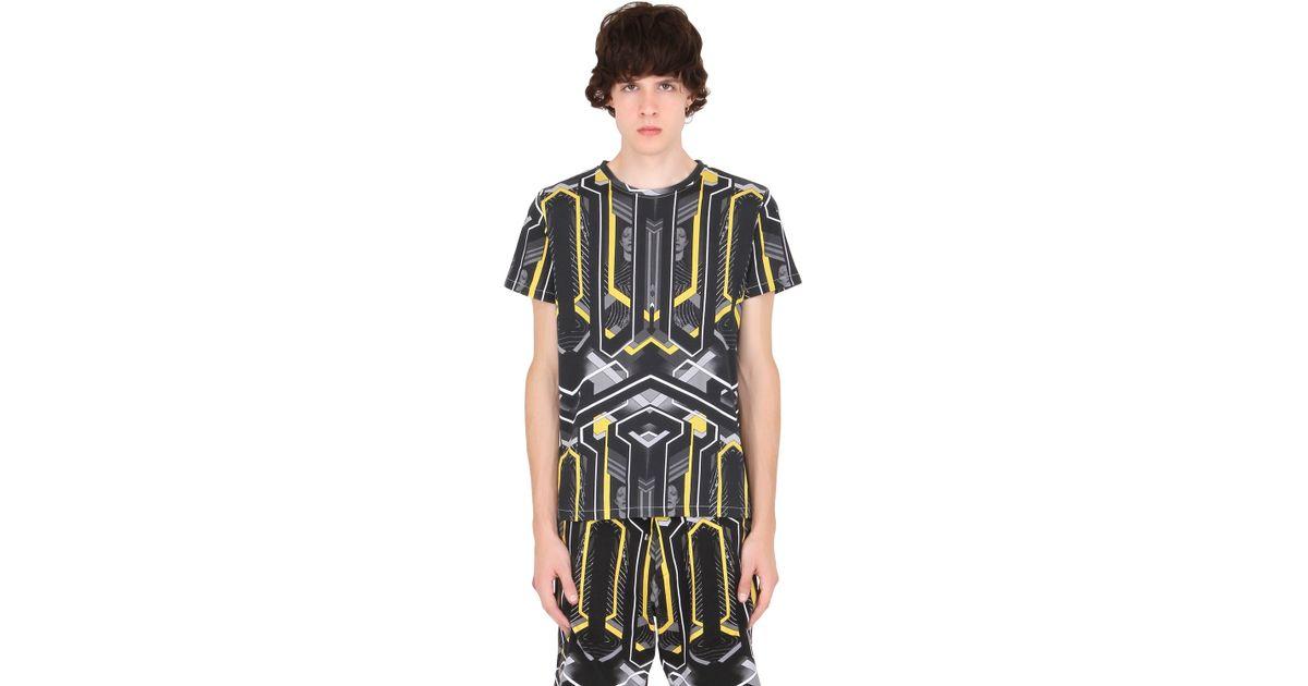 John richmond david bowie print cotton jersey t shirt in for T shirt printing richmond va