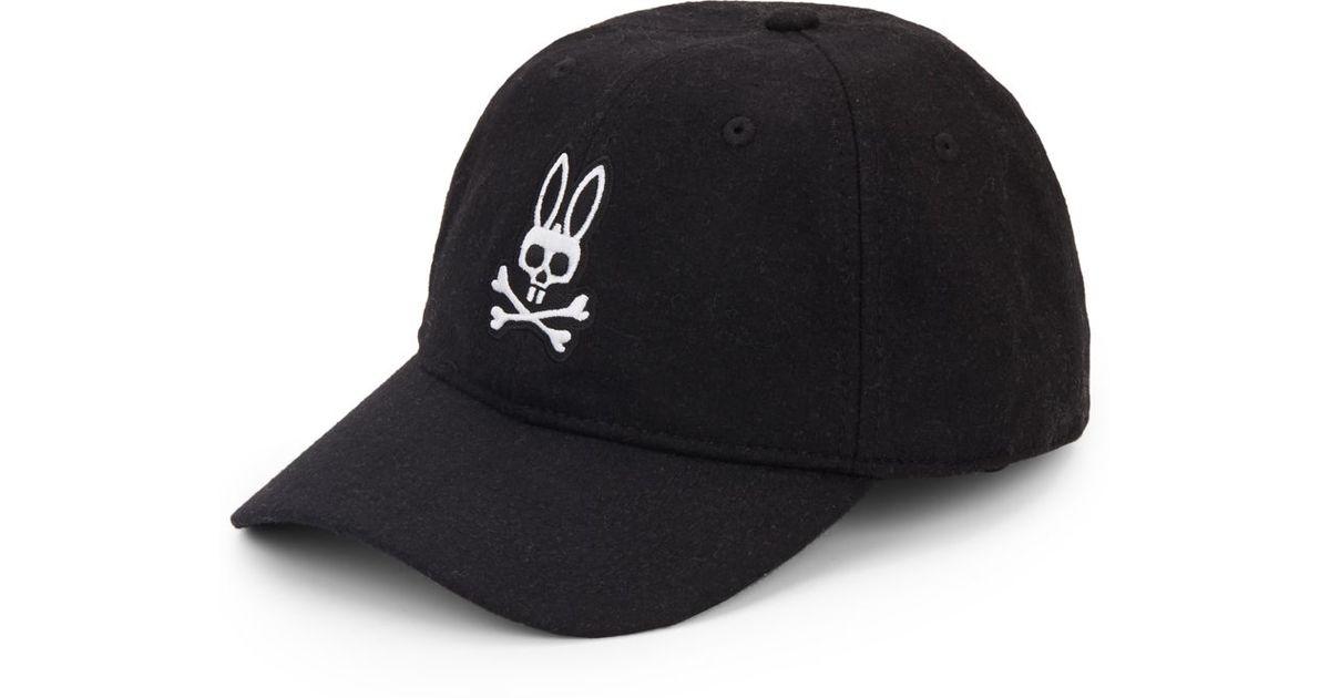 Lyst - Psycho Bunny Skull-bunny Baseball Cap in Black for Men 3a3e556ceb6