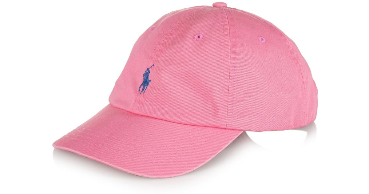ee1aa46ef Polo Ralph Lauren Classic Chino Sports Cap in Pink for Men - Lyst