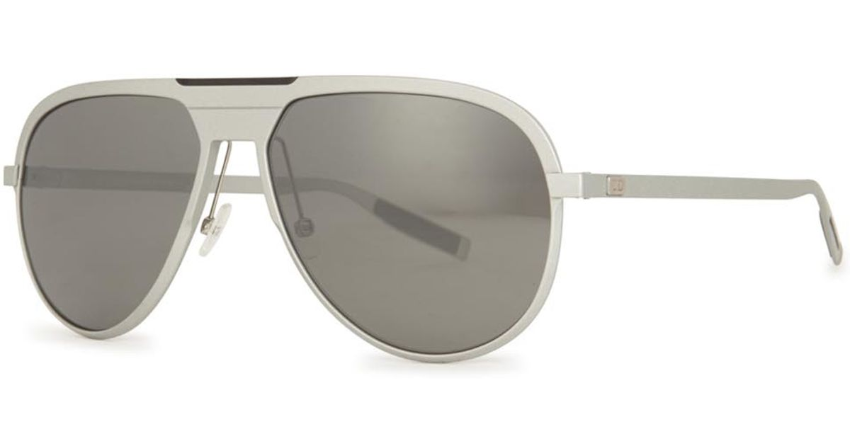 504956d34ea Dior Homme Al13.6 Mirrored Aviator-style Sunglasses in Natural for Men -  Lyst