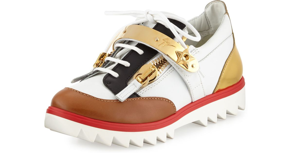 Giuseppe ZanottiColorblock Leather Sneakers TaaLVikN