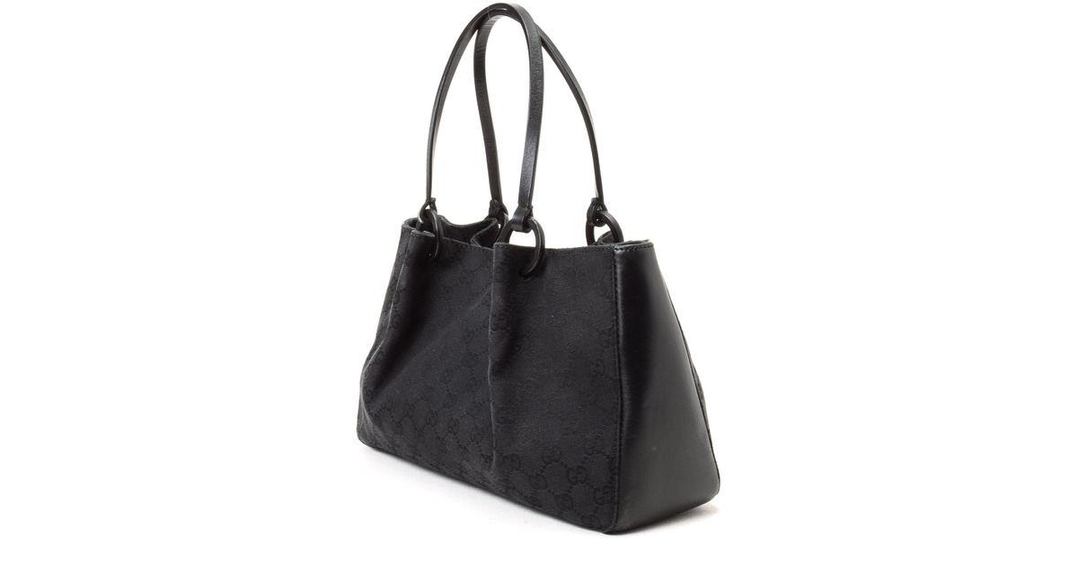 43a884ae065 Lyst - Gucci Tote Bag - Vintage in Black