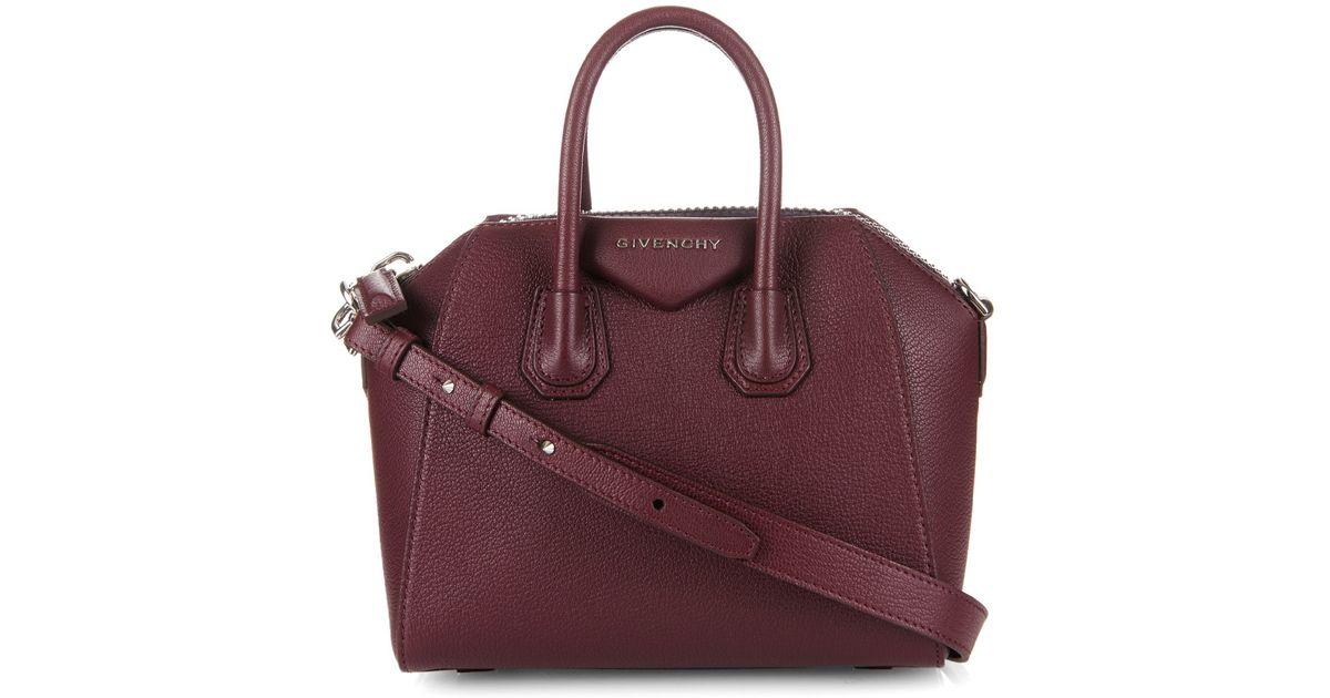 81b21d5bbf Givenchy Antigona Mini Leather Cross-Body Bag in Brown - Lyst