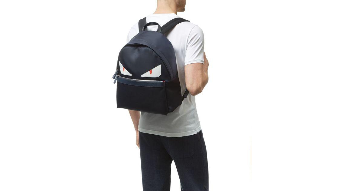 0b8a176e97 Fendi Monster Eyes Backpack in Black for Men - Lyst