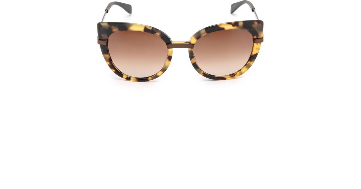 2f91eb40fe93c Marc By Marc Jacobs Cat Eye Sunglasses - Black brown Grey in Brown - Lyst