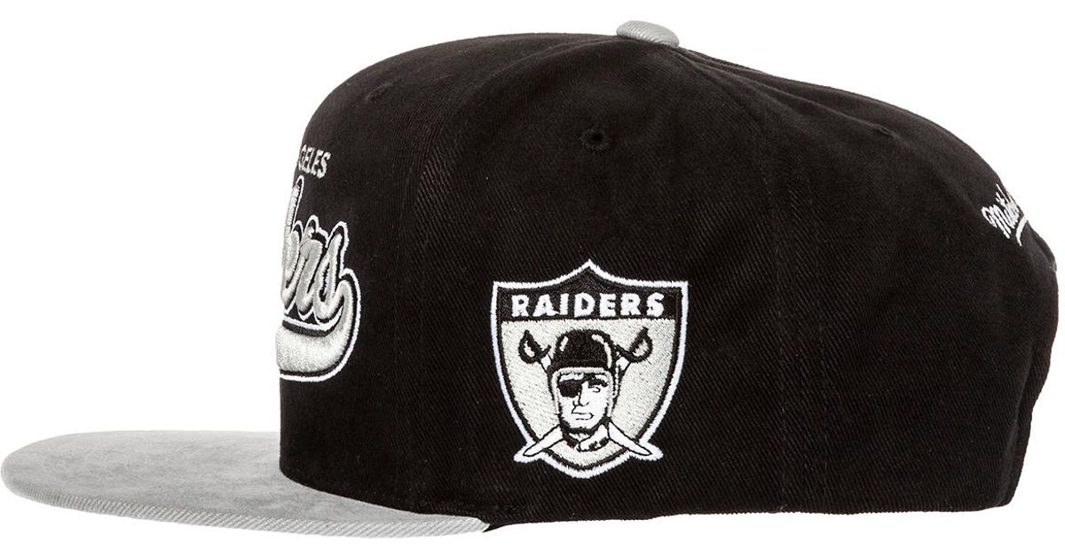 d2ee793102d Lyst - Mitchell   Ness The Oakland Raiders Xl Logo 2tone Snapback Hat in  Black for Men
