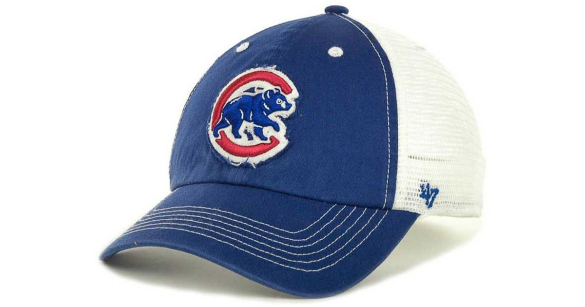 finest selection e136f 8fcb5 ... black groveland franchise fitted baseball hat fe6a8 5e4ac  ireland lyst 47  brand chicago cubs blue mountain franchise cap in blue for men bc955 42156