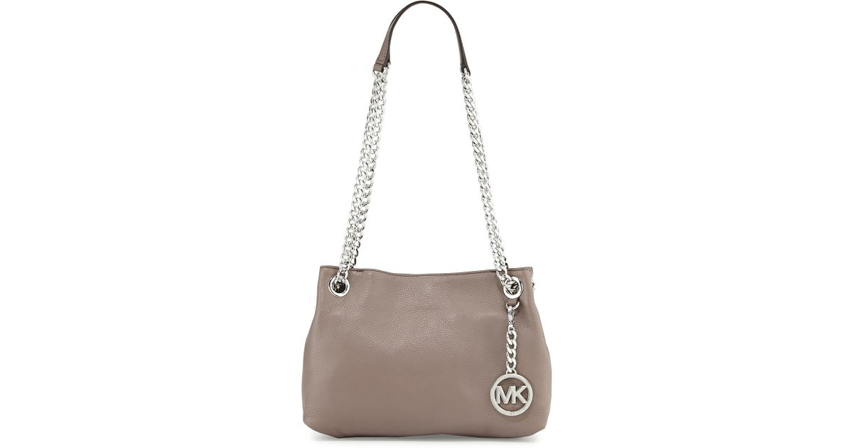 b6976167a3e Lyst - MICHAEL Michael Kors Jet Set Chain Medium Tote in Gray