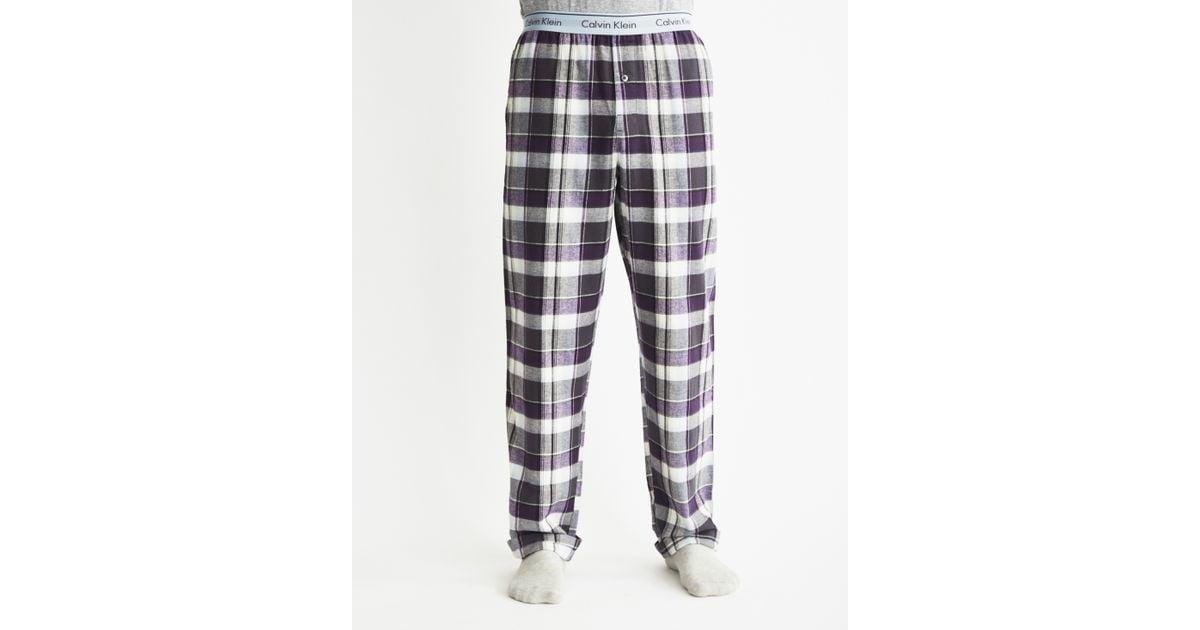 Lyst - Calvin Klein Flannel Sleepwear Pants for Men 937d19dce