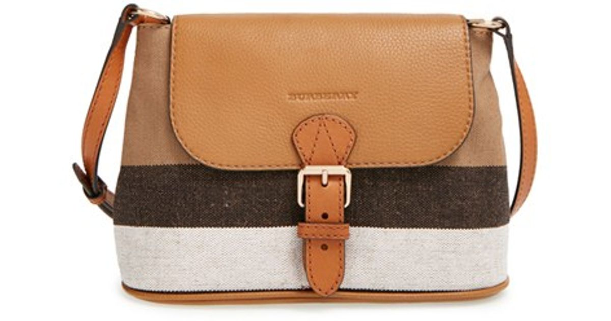 b4c9336fb727 Lyst - Burberry  small Gowan  Crossbody Bag in Brown