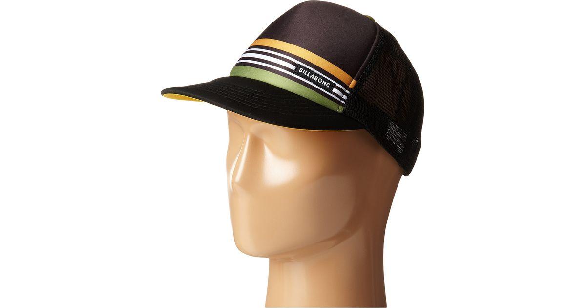 Lyst - Billabong Spinner Trucker Hat in Black for Men 173389a50941