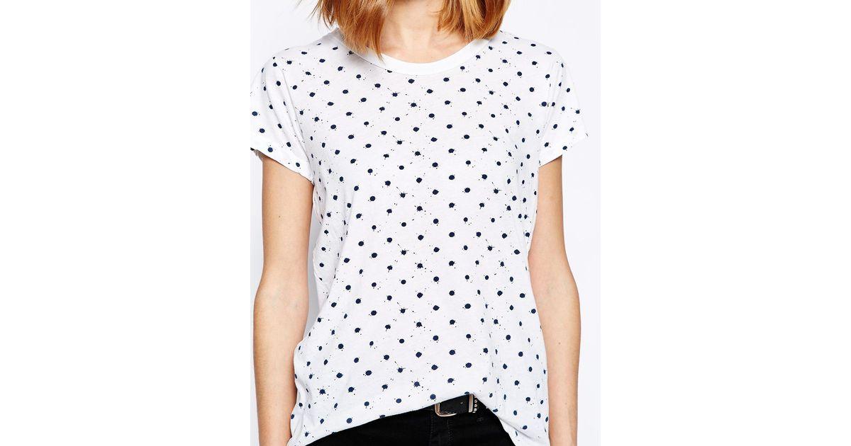 48465c9784cd Skargorn Spotty T-Shirt in White - Lyst