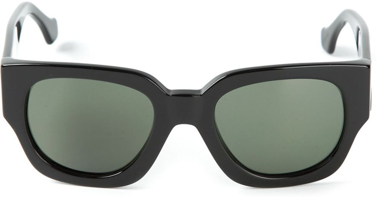 Lyst - Balenciaga Thick D-Frame Sunglasses in Black for Men