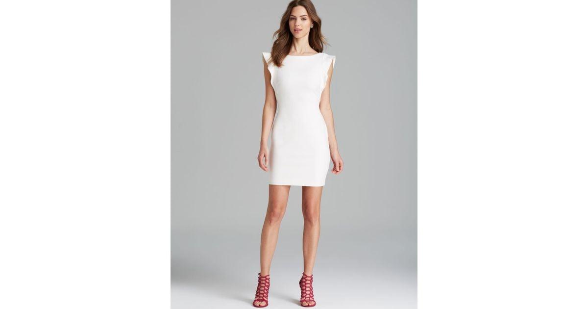 Bailey 44 tweed dress white