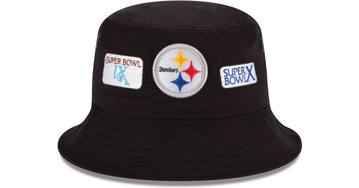 Lyst - KTZ Pittsburgh Steelers Multi Super Bowl Champ Bucket Hat in Black  for Men e272ace19