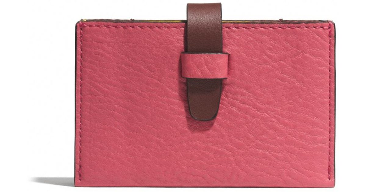 Lyst coach bleecker accordion business card case in colorblock lyst coach bleecker accordion business card case in colorblock leather in pink colourmoves