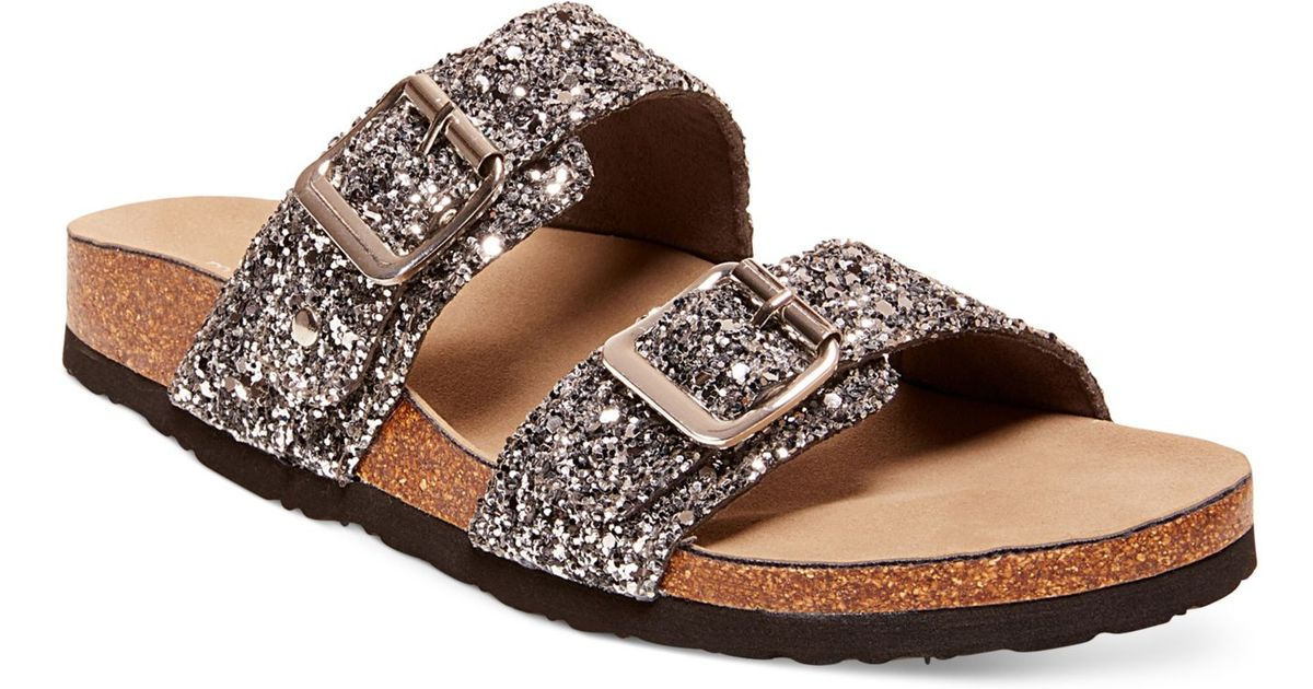 Madden girl Brando Glitter Faux-Leather Sandals in ...