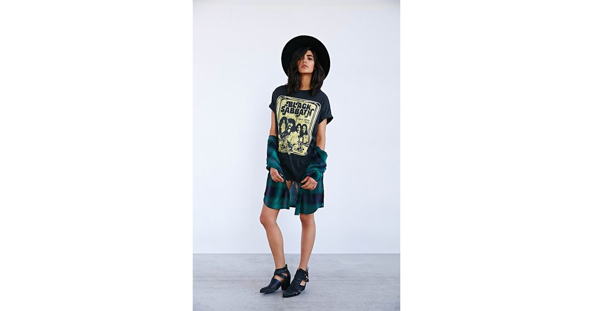 Lyst Urban Outfitters Black Sabbath Tee Dress