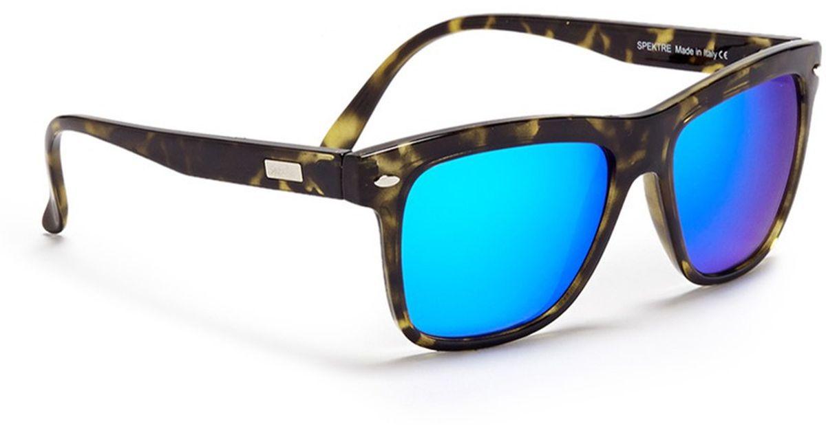 b15895bf9a1 Lyst - Spektre Mirror Lenses Tortoiseshell Sunglasses in Blue