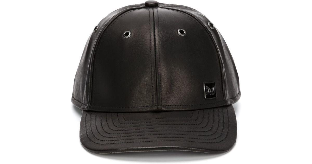 best loved 27af6 b883b ... czech lyst melin leather baseball cap in black for men 1c6e2 c4c56