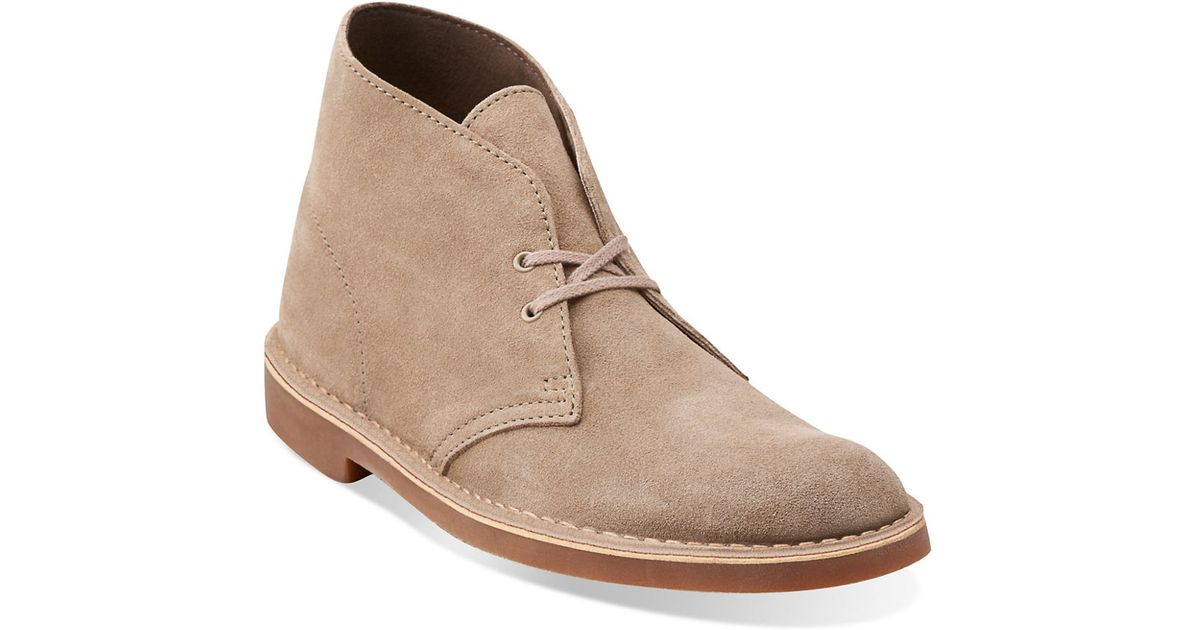 clarks bushacre 2 suede chukka boots in multicolour for